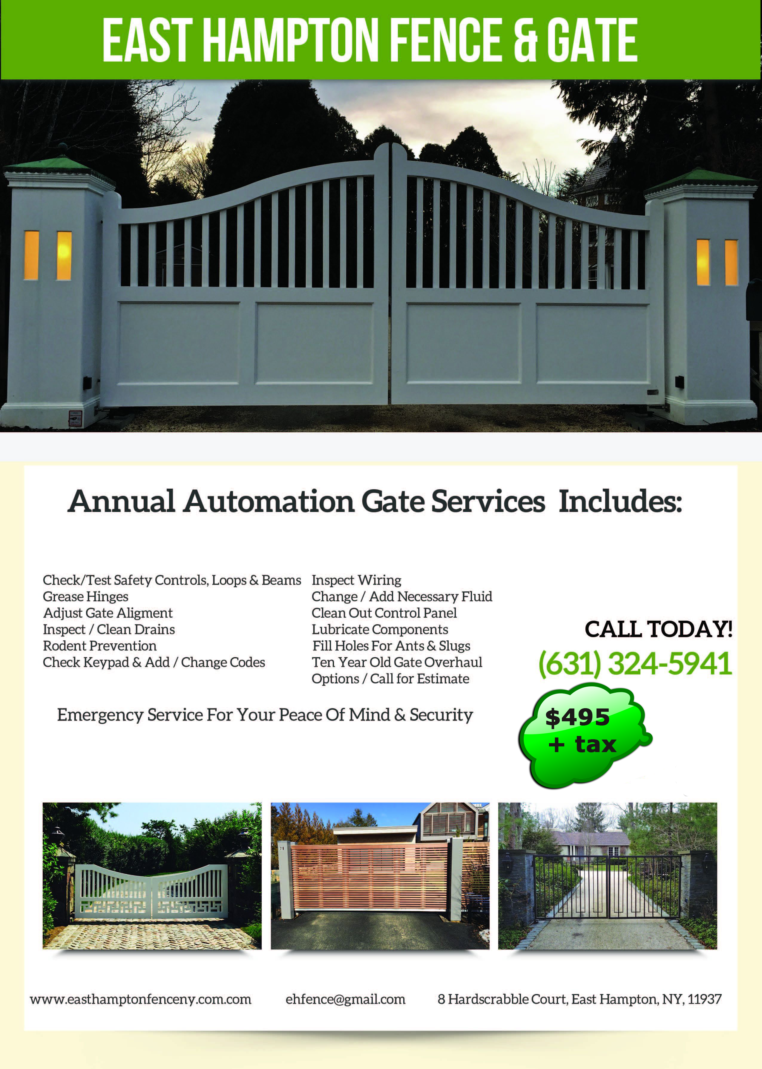 annual automation gate service